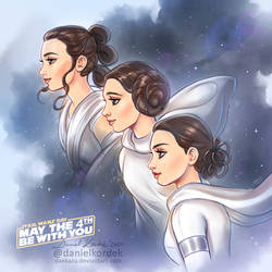 Star Wars: Rey, Leia and Padme