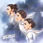 Star Wars: Rey, Leia and Padme by daekazu