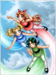 The Powerpuff Girls by daekazu