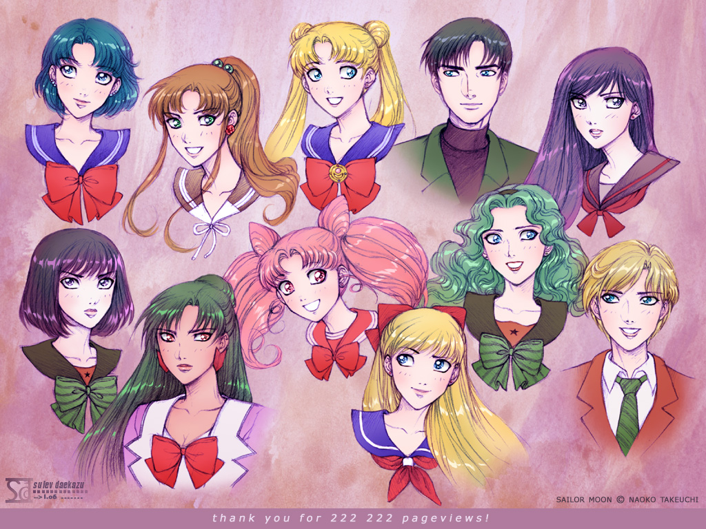 Sailor Moon: team by daekazu