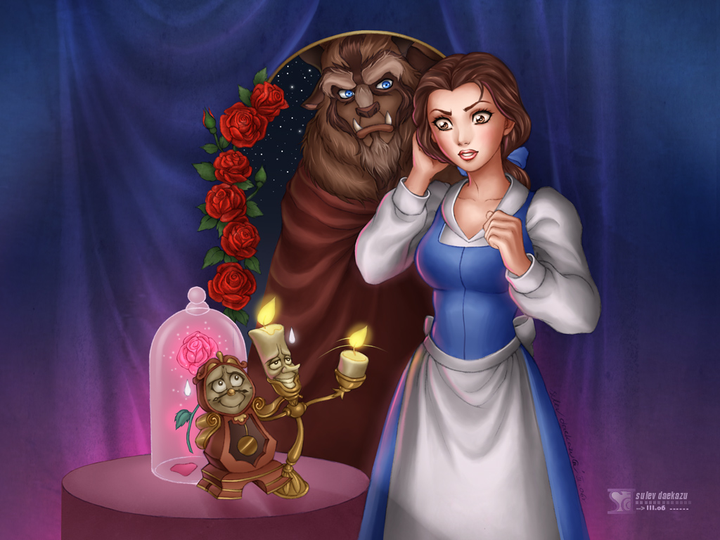 Beauty and the Beast by daekazu on DeviantArt
