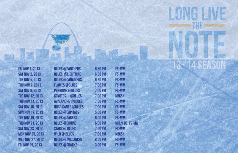 November Blues Schedule by SamKent