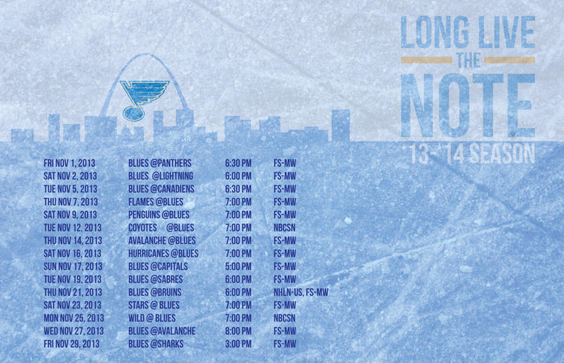 November Blues Schedule