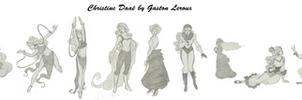 Christine Daae (cartoon) by Gaston Leroux