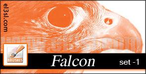 el3sl - Arabian Falcon Brushes by xUAEx
