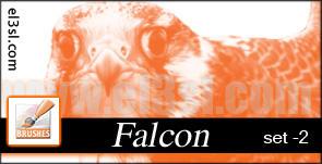 el3sl-Arabian Falcon 2 Brushes by xUAEx