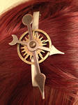 Clockwork hair clip