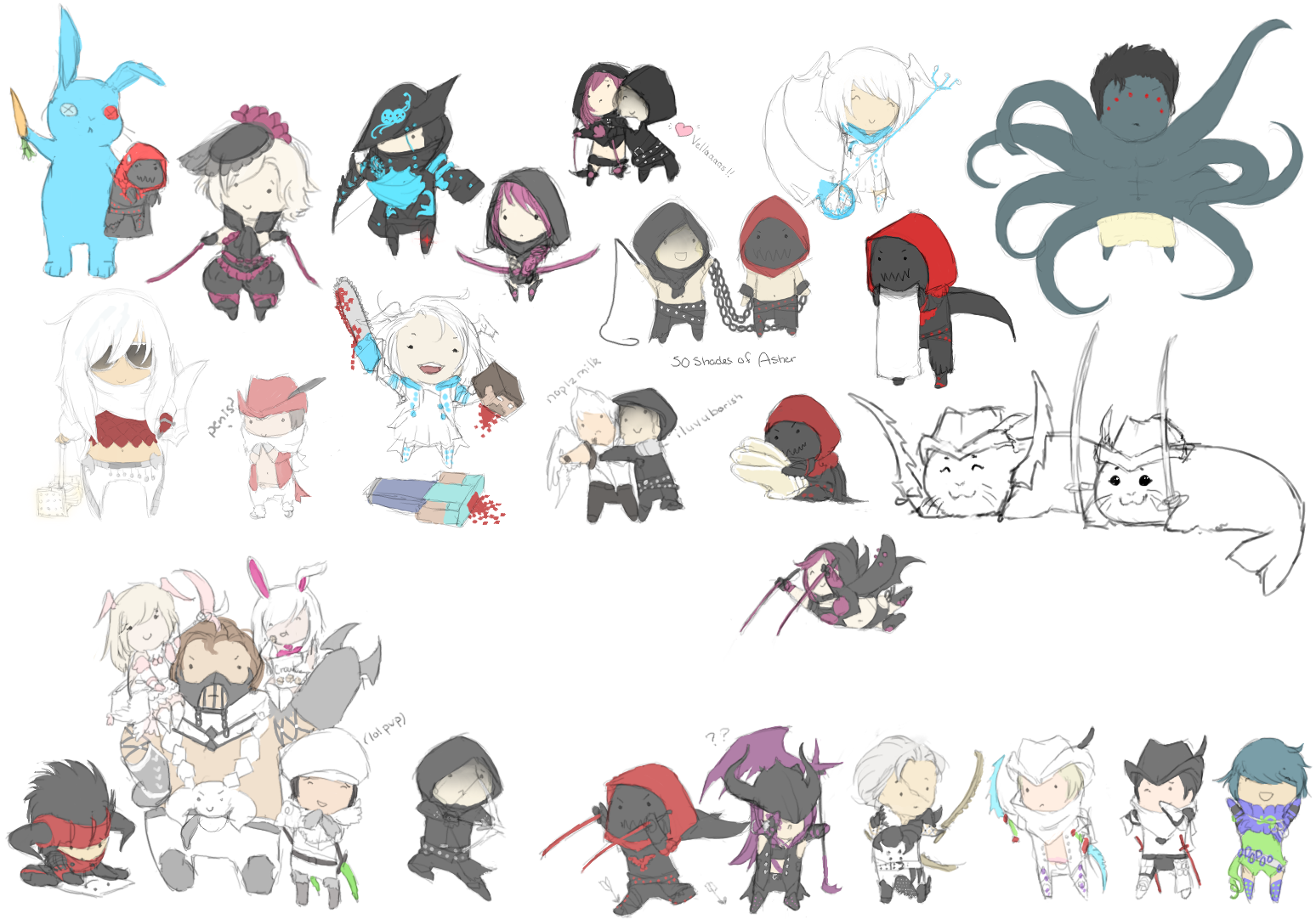 vindictus chibis lol by mmmegh on deviantart