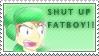 Shut Up Fatboy Stamp by KTWizard