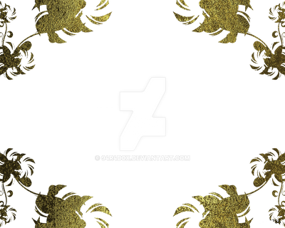 Gold Frame On Transparent Background By 94r4d0x