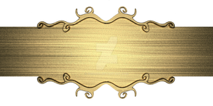 template of gold metal plate