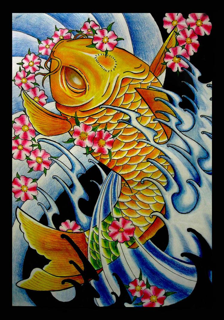 Japanese koi fish by thirteen7s on deviantart for Koi japanese art