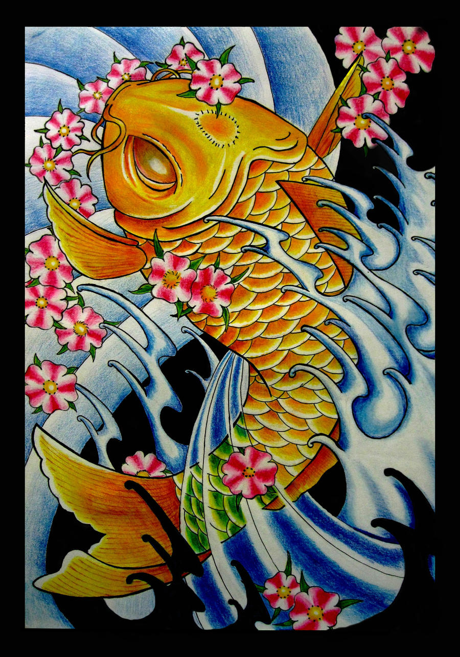 Japanese koi fish by thirteen7s on deviantart for Koi fish artwork