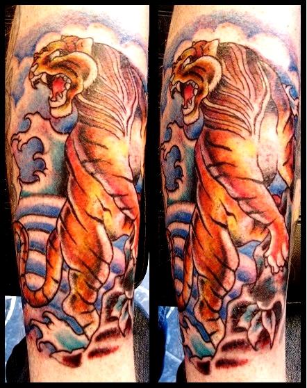 japanese tattoo 4 japanese tiger 25 splendid japanese tiger tattoos    Traditional Japanese Tiger Tattoos