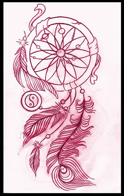 Dreamcatcher tattoo design by thirteen7s on deviantart for Dreamcatcher tattoo template