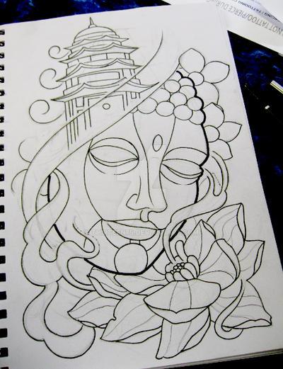 Buddha Head Tattoo Designs