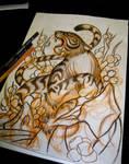 Tiger tattoo sketch