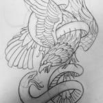 eagle snake tattoo design
