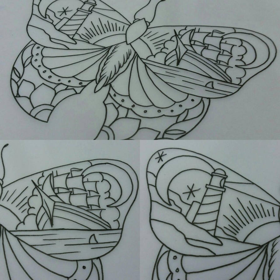 traditional moth tattoo design by thirteen7s on deviantart. Black Bedroom Furniture Sets. Home Design Ideas