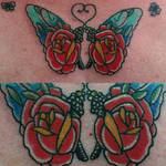 butterfly roses tattoo