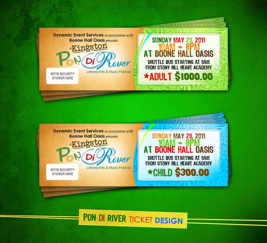 Pon di river ticket designs by realizedesignsjason