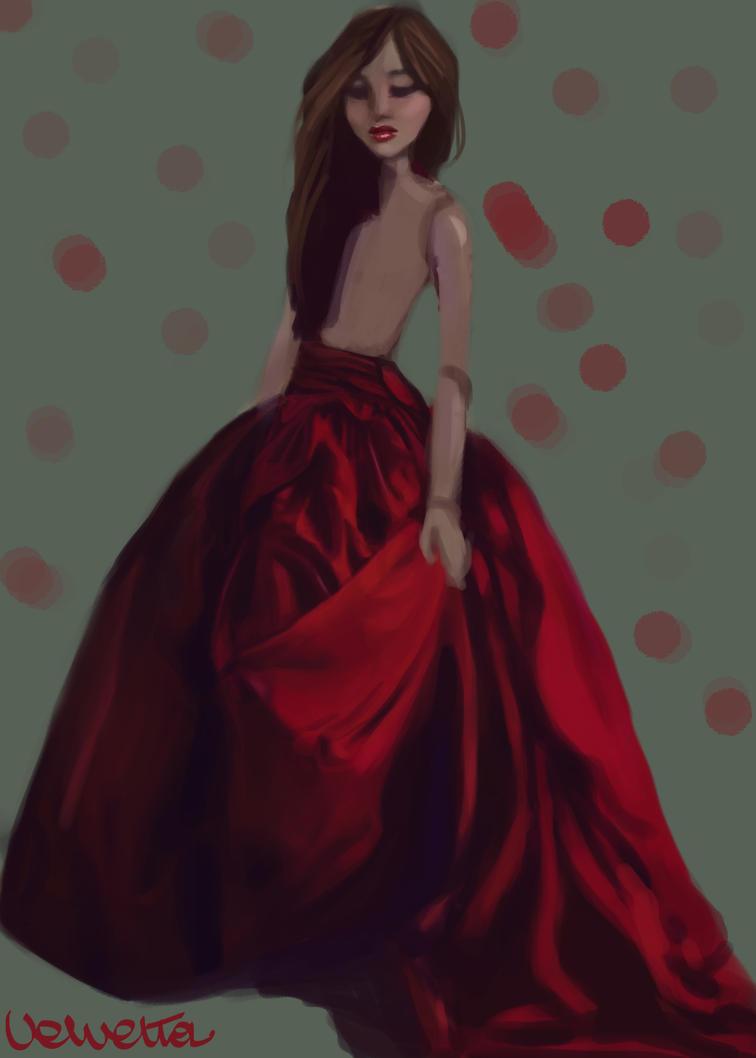 Gown study by Velvetta