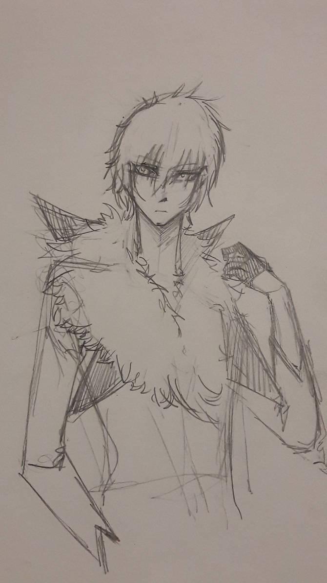 Pokemon Gijinka: Lycanroc (Midday) [Sketch]