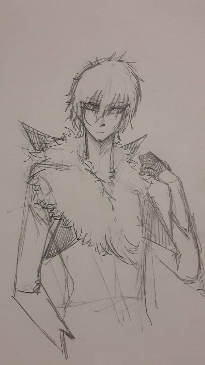 Pokemon Gijinka: Lycanroc (Midday) [Sketch] by AcreaPiltOver