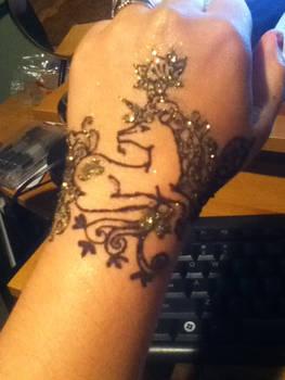 Henna unicorn