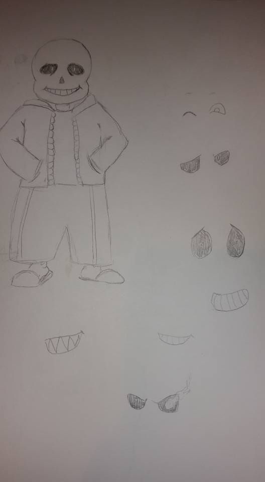 Trying to draw Sans by Titianna