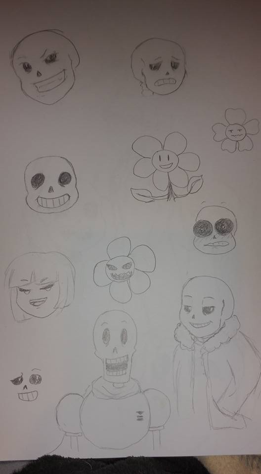 Trying to draw Sans some more by Titianna
