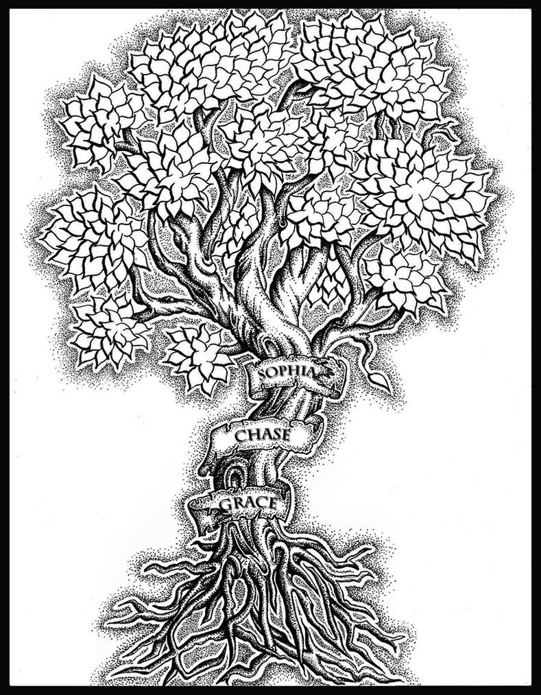 e67112c85669b Family Tree Tattoo by ChrisOneill on DeviantArt