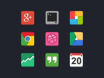 Flat Android Icons by Kosai106