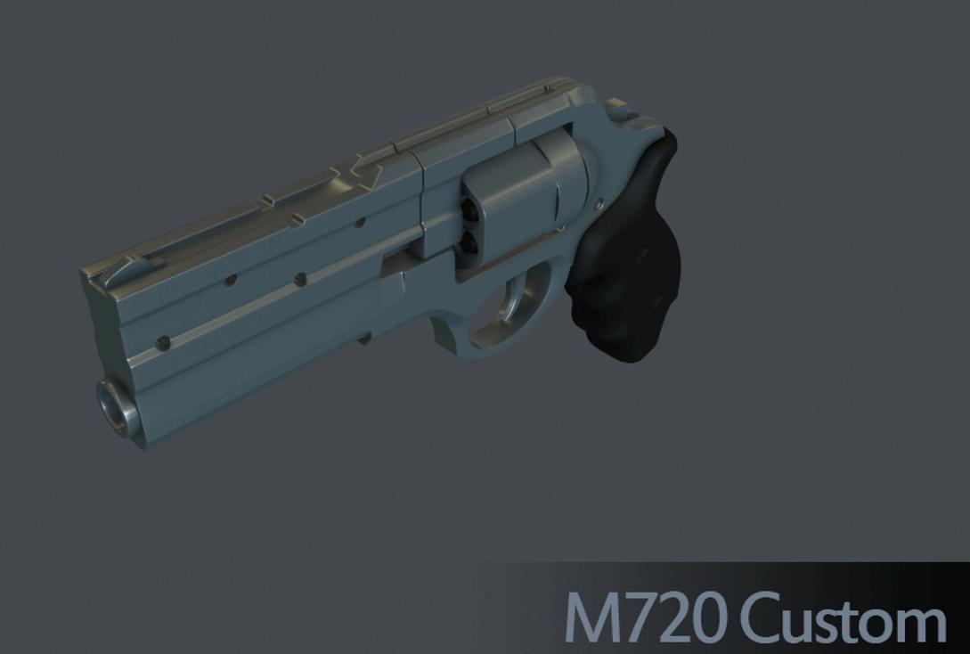 M720 Custom .357 Revolver WiP by Kosai106