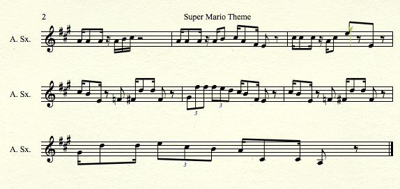 Super Mario Theme for Alto Sax pt2 by MrConan42 on DeviantArt