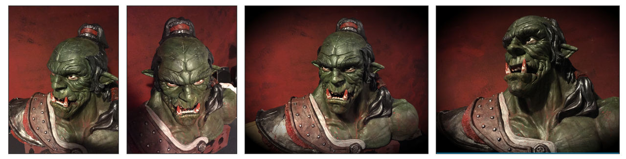 Orcish Warlord Claysculpture