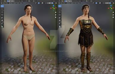 AC: Odyssey - Kassandra Body and Amazon set