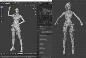 Cyberpunk 2077: Judy Alvarez - Skeleton Test Only
