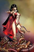 vampirella-3 cover by Ivan-NES