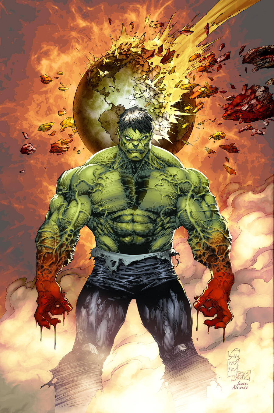 Hulk cover color BattleArtist by Ivan-NES