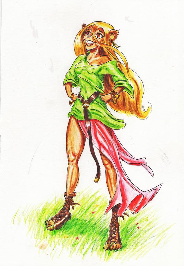 Lioness 2 by Drunken-elf