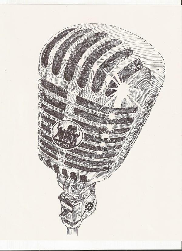 Line Art Microphone : Microphone level by jorge d on deviantart