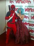 Deadpool and Miku hatsune