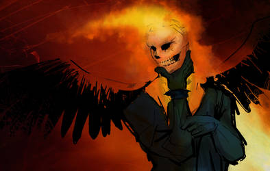 Ghost Rider Concept Art by heceath