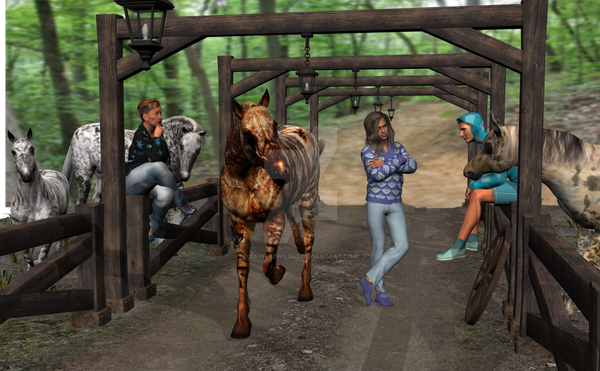 Baby Girl Bioncia Hanging At The Ranch fix - Copy by Saphirewild43