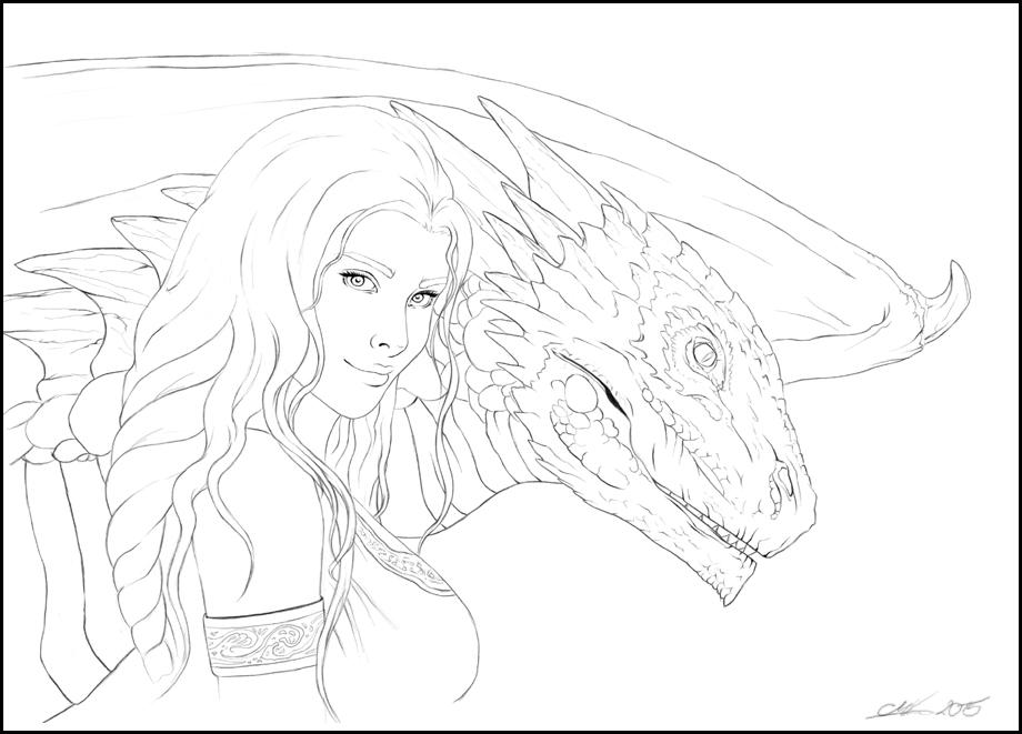 Daenerys Targaryen Lineart By Noxeri On Deviantart