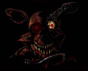 Ghoulish Foxy- fnaf  by Draxlorik