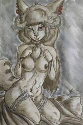 Demon queen, quick sketch by Draxlorik