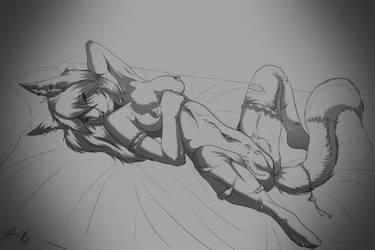 Satisfaction sketch/w shade by Draxlorik
