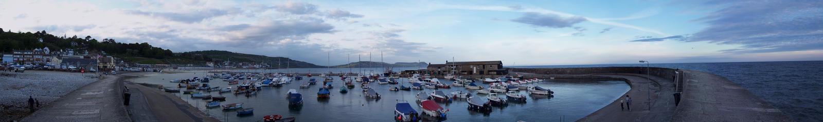 A harbour in Lyme Regis by ImageMagic